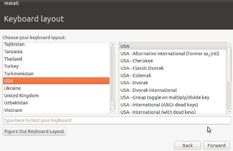 Cara Install Ubuntu 10.10 - Keyboart Layout Ubuntu