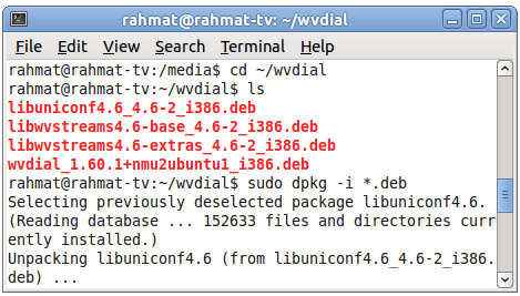 Install wvdial di Ubuntu