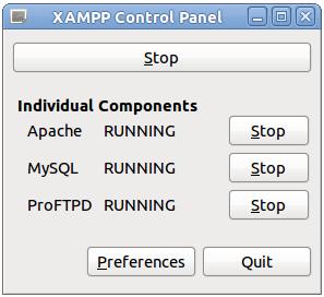 Xampp Control Panel di Ubuntu